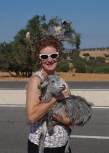 Elaine-with-Goat